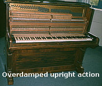 Overdamped upright action